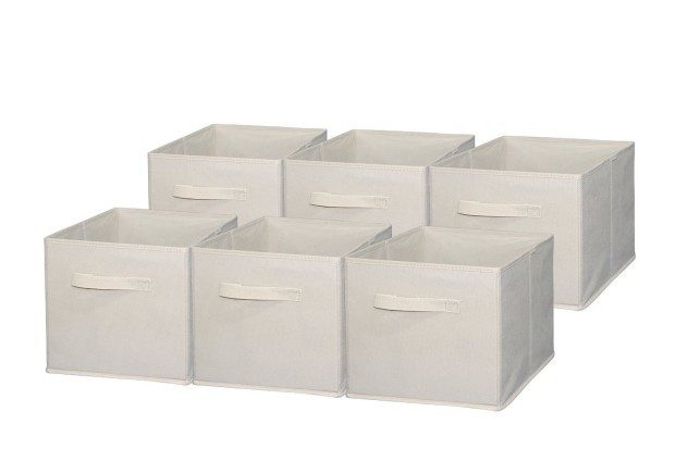 Foldable Cloth Storage Cube Beige 6 Pk Only $19.49! (Reg. $33)
