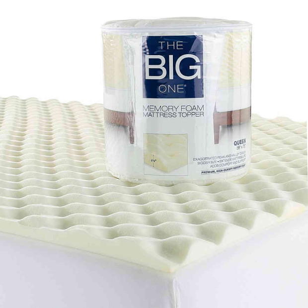 The Big One Memory Foam Mattress Topper Just $23.99!  Down From $110!