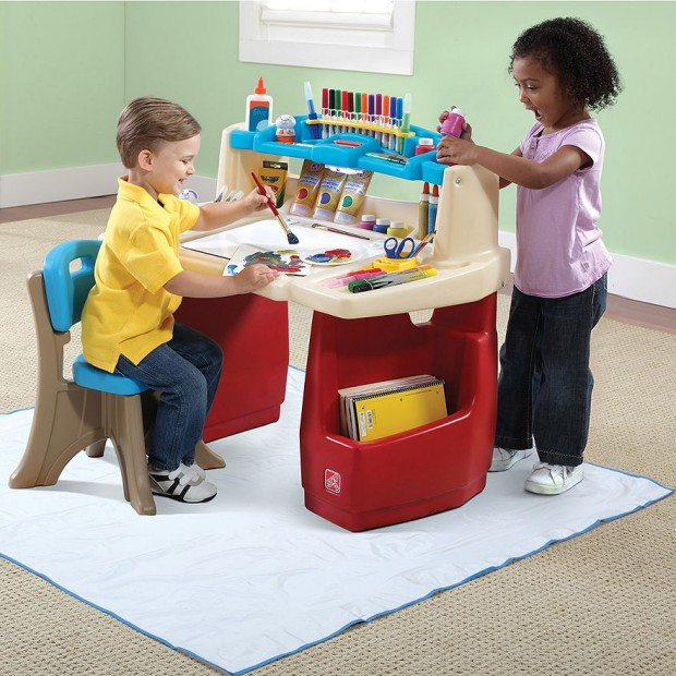 Step2 Deluxe Art Master Desk With Chair Just 51 99 Down From 100 Plus Free