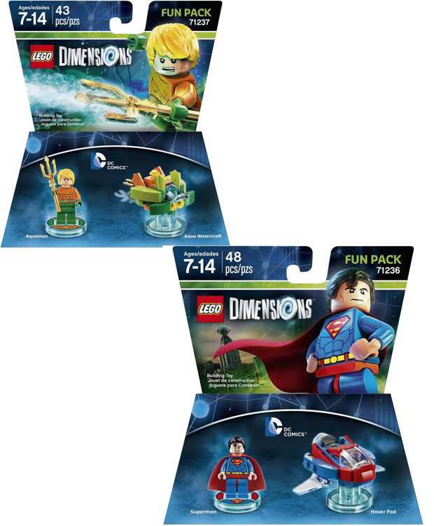 DC Superman or Aquaman Fun Pack - LEGO Dimensions Only $8.49 Each! (Reg. $15)