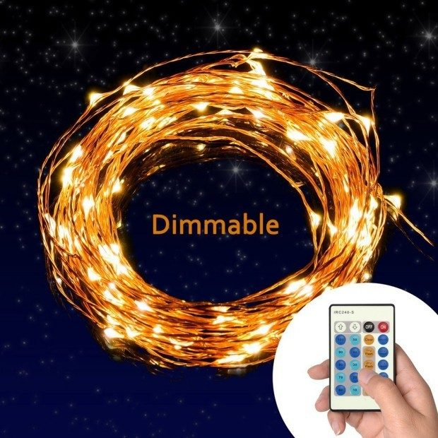 Dimmable Copper Wire LED Starry String Lights Just $19.99!  Down From $70!
