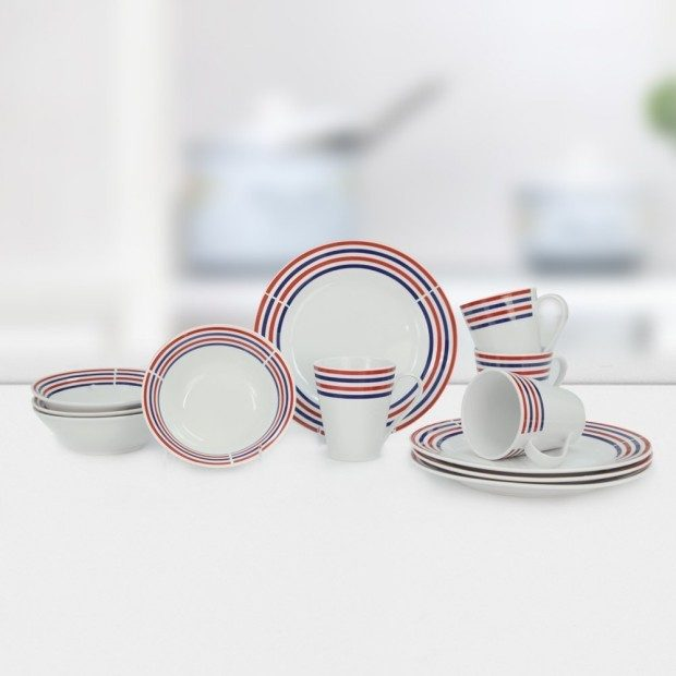 Porcelain Dinner Set Service For 4 Only $19.99!
