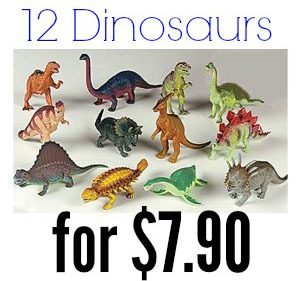12 Piece Plastic Dinosaur Set Only $7.90 + FREE Shipping!