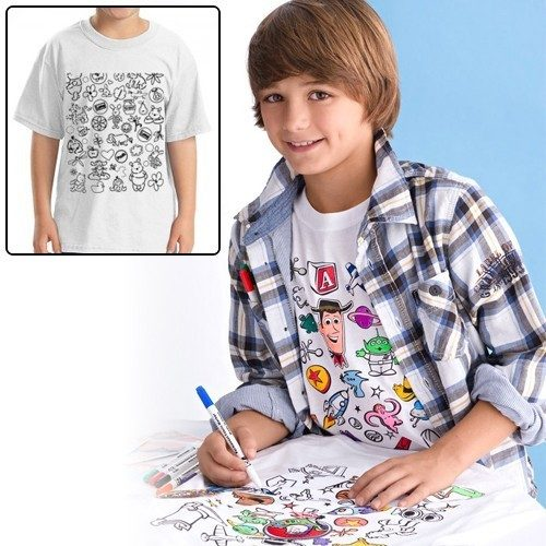 Colorable Disney Toy Story Youth T-Shirt Only $5 + FREE Shipping!