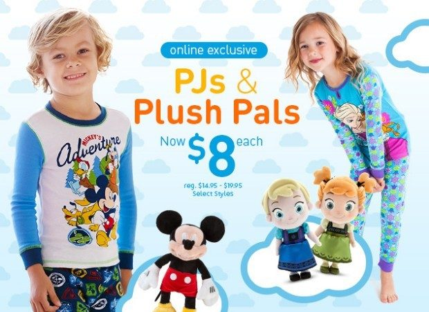 Disney Online Store PJs and Plush Pals Only $8!