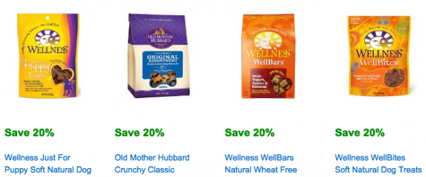 Select Wellness and Old Mother Hubbard Treats Save 20% &  Save $15 On $100 Select Food/Treat Products!