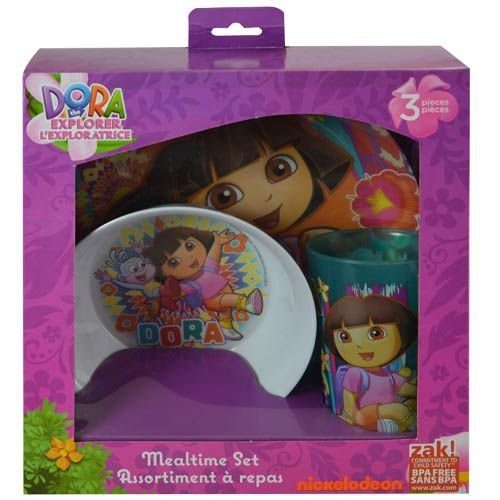 Dora the Explorer Mealtime Set (3-Piece) Only $6.37! (Reg. $21)