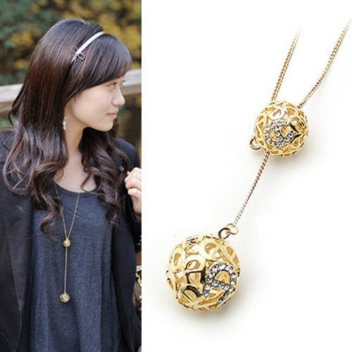 Double Hollow Ball Pendant Only $3.23 + FREE Shipping!