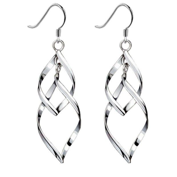 Double Linear Loops Silver Earrings Only $9.99! (Reg. $40!)