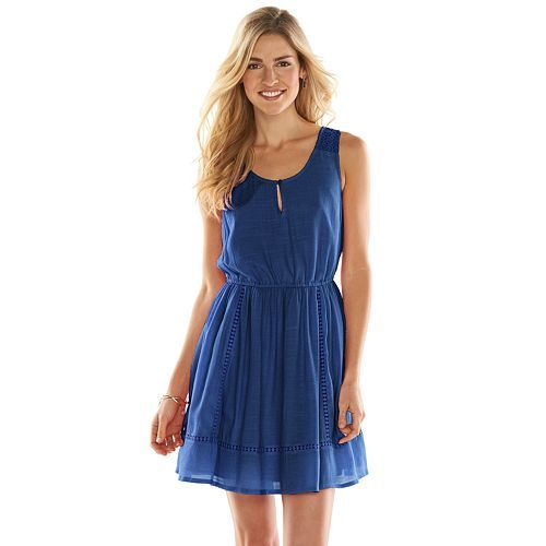 Lauren Conrad Crochet Peasant Dress Only $4.80!