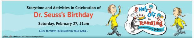 FREE Dr. Seuss's Birthday Celebration Storytime At Barnes & Noble On Saturday, 2/17!