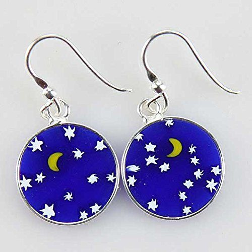 """Starry Night"" Dangle Earrings in Silver Only $28.95!"