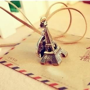 Eiffel Tower Necklace Only $0.95!