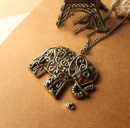 Hollow Out Elephant Necklace Just $1.99 SHIPPED!