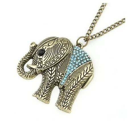 Elephant with Crystal Accents Necklace Just $1.69 Shipped!