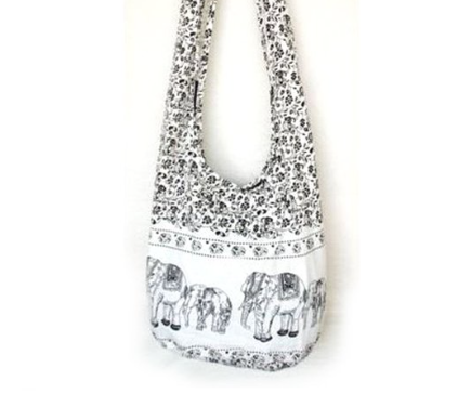 Hippie Elephant Sling Crossbody Thai Purse Only $8!
