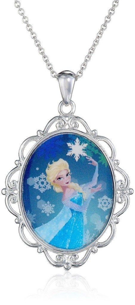 Disney Girls' Frozen Elsa Magic Pendant Necklace Just $6.99!  Down From $20!