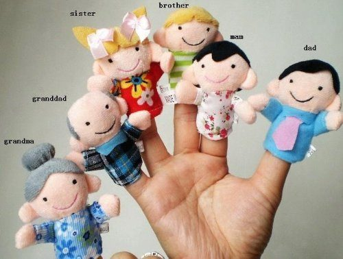6 Pc Soft Plush My Family Finger Puppet Set Only $1.37 Shipped!