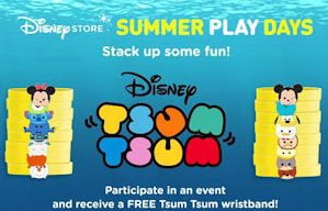 FREE Tsum Tsum Wristbands at Disney Store Summer Play Days!