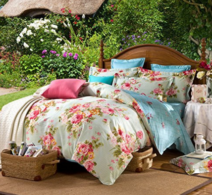 Ttmall Twin Size 3pc Peony Flowers Floral For Girls Duvet Cover Sets Just $48 Down From $289!