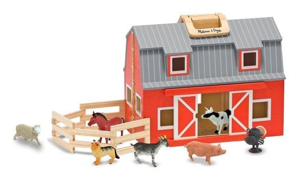 Melissa & Doug Fold & Go Wooden Barn Just $32.18! (reg. $50)