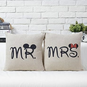 Mr & Mrs Cushion Cover Set Just $4.80 Plus FREE Shipping!