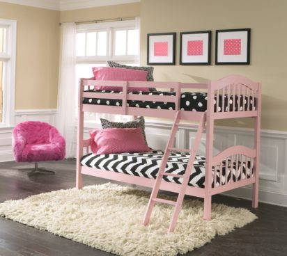 Stork Craft Long Horn Bunk Bed, Pink Just $179! (Was $260)