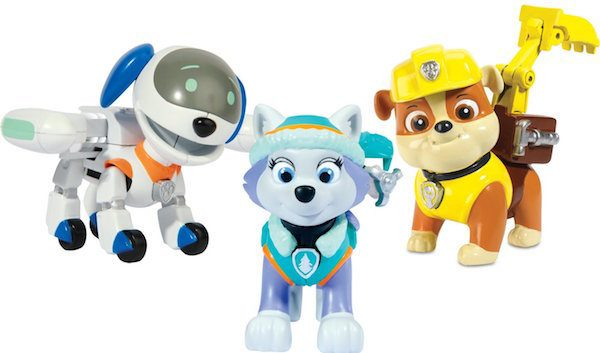 Paw Patrol, Action Pup 3Pk, Everest/Robodog/Rubble Just $13.31! (Was $20)