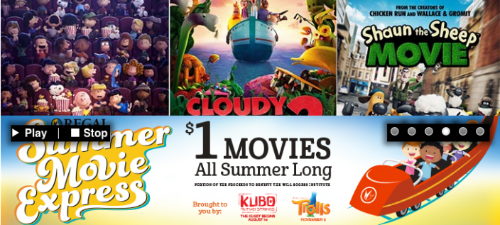 $1 Kids Movies At Regal Theaters!