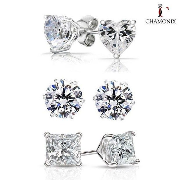 Chamonix Sterling Studs With Swarovski Elements 3 Pairs Just $12 Shipped!
