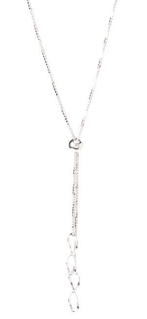 Sterling Silver Box Infinity Charms Tassel Necklace Only $11.99!