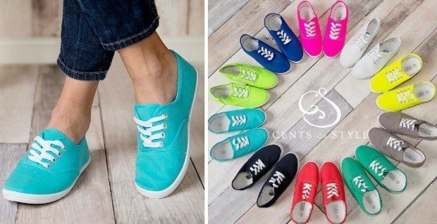 Women's Basic Canvas Sneakers In Array of Colors Only $12.99!