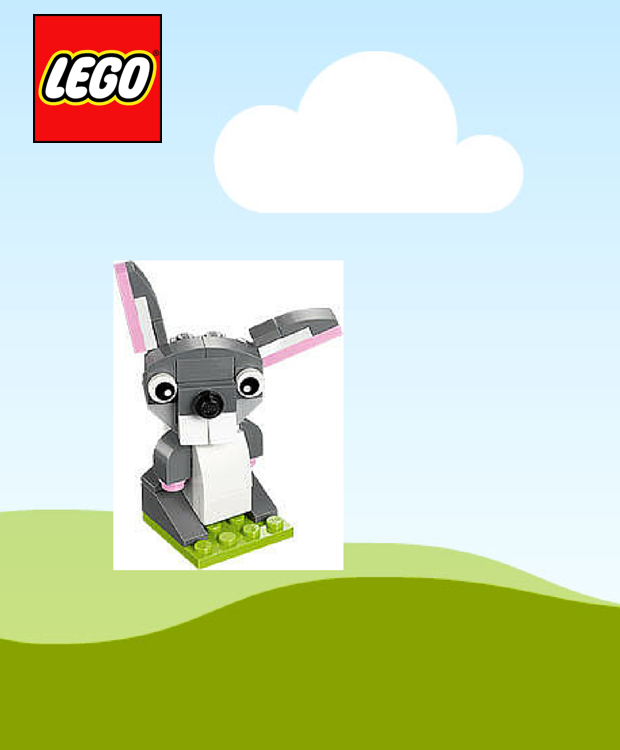 FREE LEGO Bunny Mini Model Build 3/1 & 3/2!
