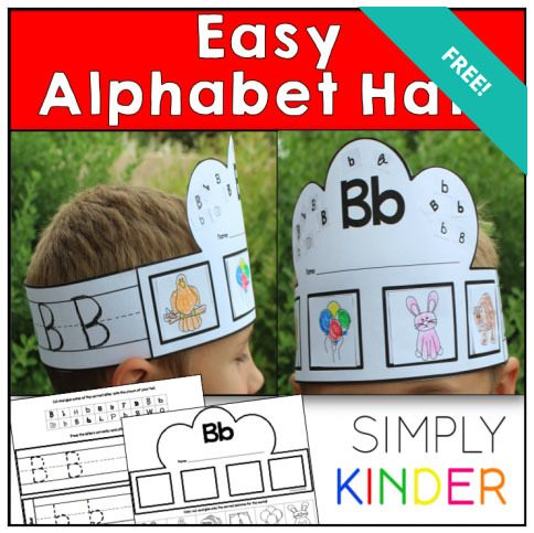 FREE Printable Alphabet Hats Craft!