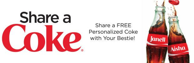 FREE Personalized Coke Bottle!