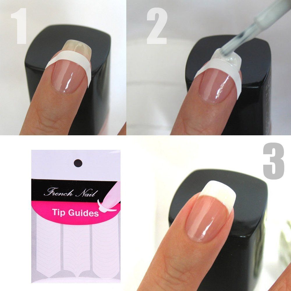 french manicure nail guides