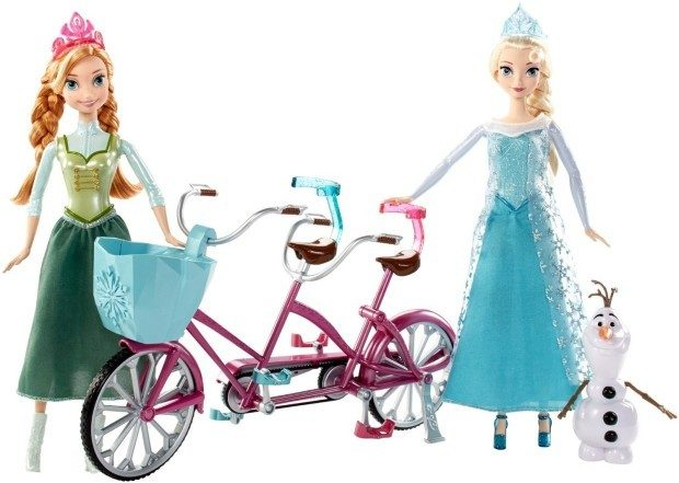 Disney Frozen Anna and Elsa's Musical Bicycle Playset Just $27.99!
