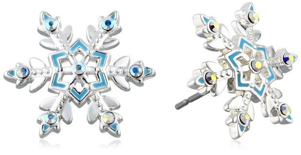 "Disney Girls' ""Frozen"" Snowflake Stud Earrings Just $12! (47% Off!)"
