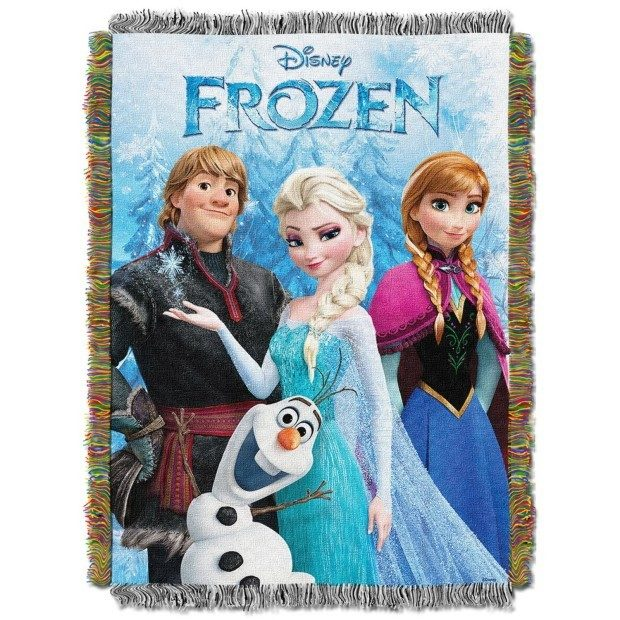 Disney's Frozen Tapestry Throw blanket, 48 by 60-inch Only $7.16!  (Reg. $44)