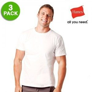 3 Pack: Hanes Men's 100% Cotton ComfortSoft Tagless T-Shirts Only $9.99 Plus FREE Shipping!