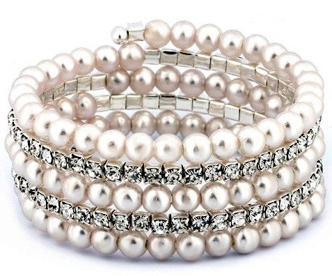 Pearl Multi-Row Stretch Bracelet Only $12.99 Plus FREE Shipping!