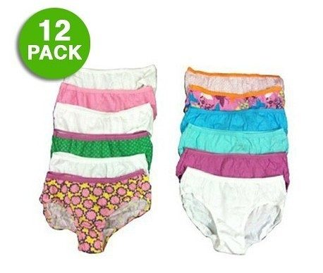 12 Pack: Hanes Girl's Tagless Hipster Panties ONLY $12.99 Plus FREE Shipping (WAS $25)!