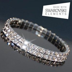 Swarovski Elements Double-Tiered Austrian Crystal Bracelet Only $3.99 Plus FREE Shipping!