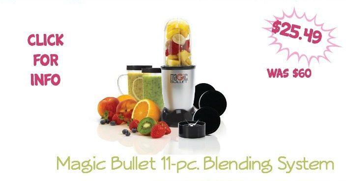 Magic Bullet 11-pc. Blending System Only $25.49!