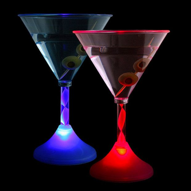 Cocktail Glasses: 2 Pk LED Color-Changing Only $11.99 + FREE Shipping!