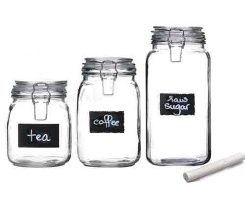 Set Of 3 Air Tight Jars with Chalk Labels Only $14.99 Ships FREE!