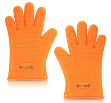 KitchCo Silicone Heat Resistant BBQ and Cooking Gloves