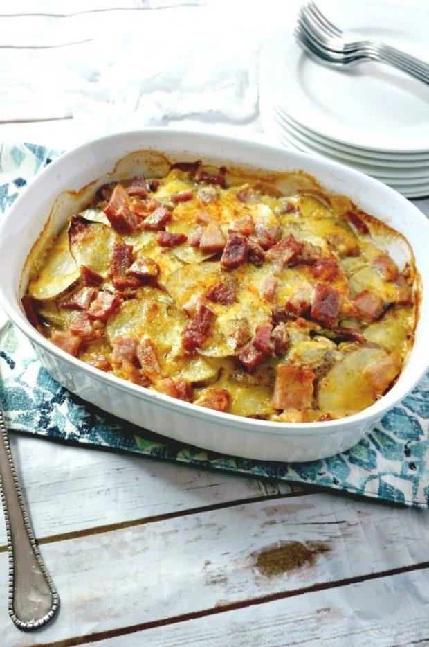 Cheesy Ham and Scalloped Potatoes