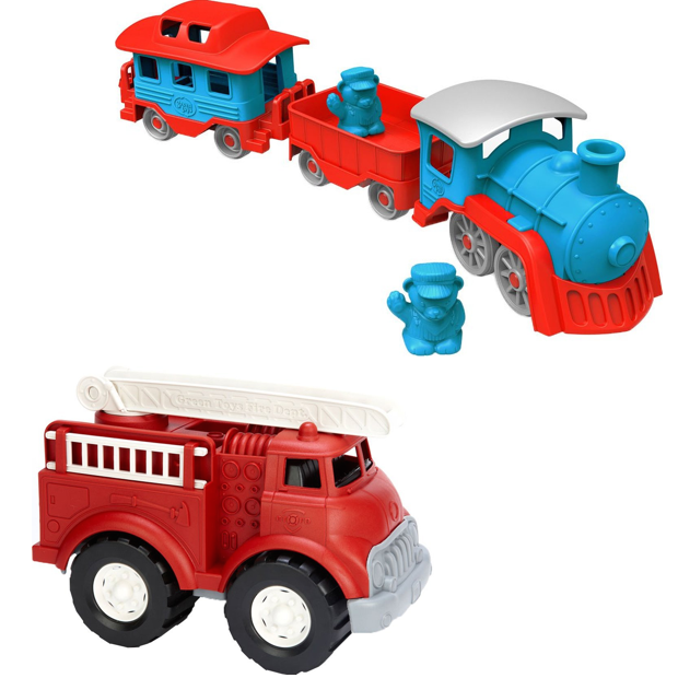BOGO 75% Off Select Green Toys! Green Toys Fire Truck AND Train Only $28.89!!