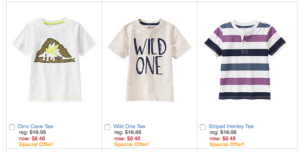 Super Tees for Boys Starting At $8.48!